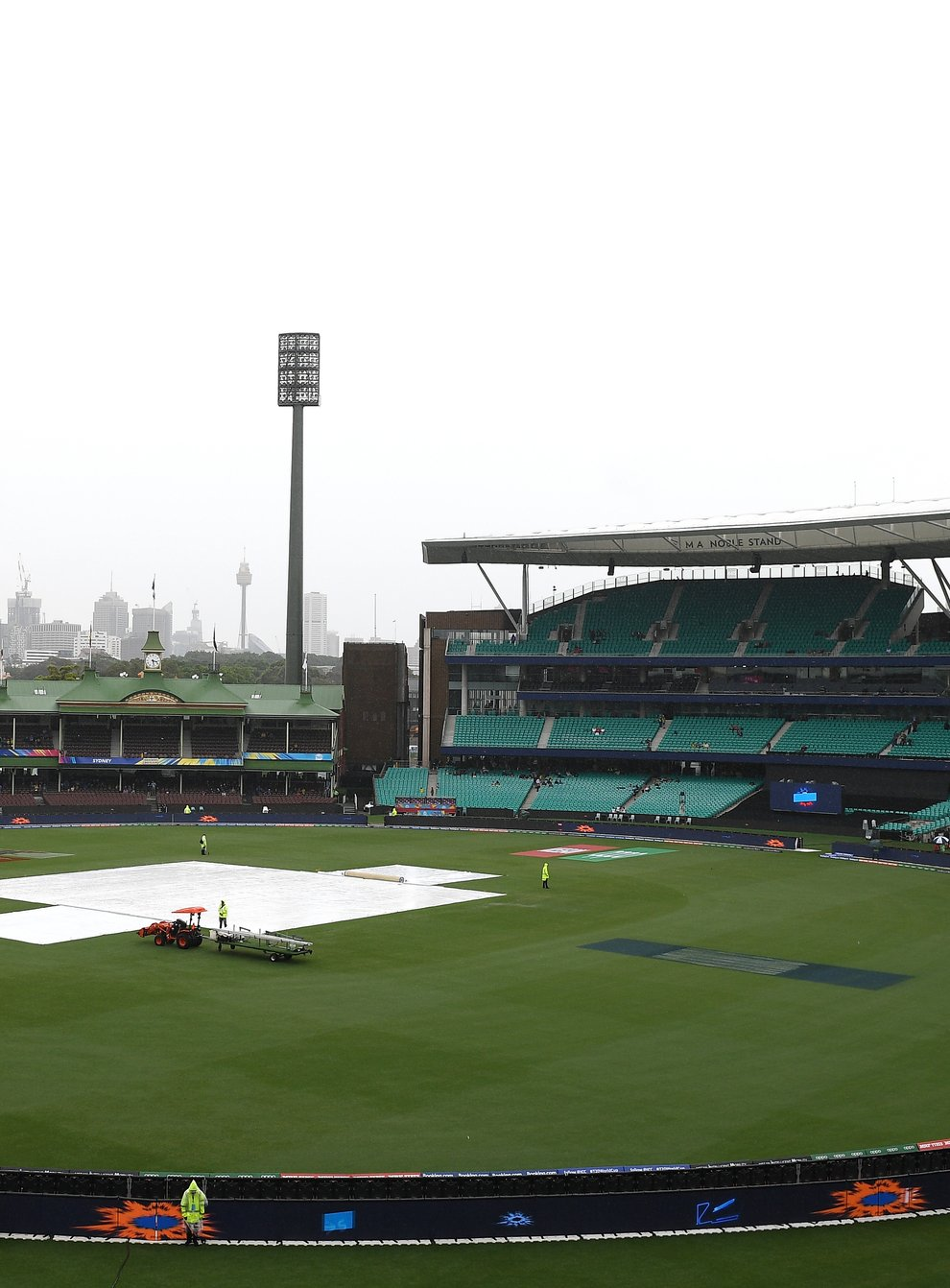 The rain did not let up in Sydney meaning England's World Cup journey is over (PA Images)