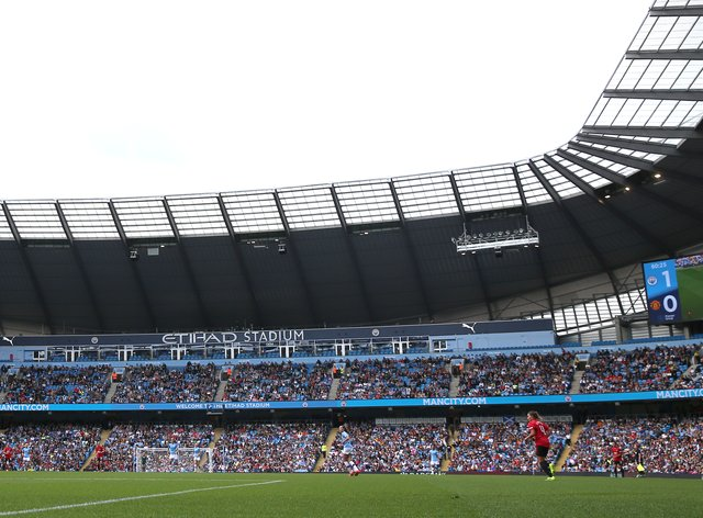 Over 30,000 fans attended the Etihad Stadium when Manchester City played United in September (PA Images)
