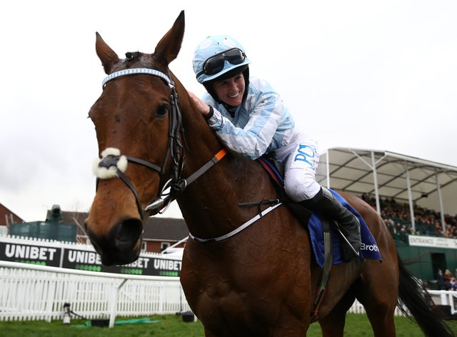Rachael Blackmore on board Honeysuckle after their thrilling performance in the Mares' Hurdle (PA Images)