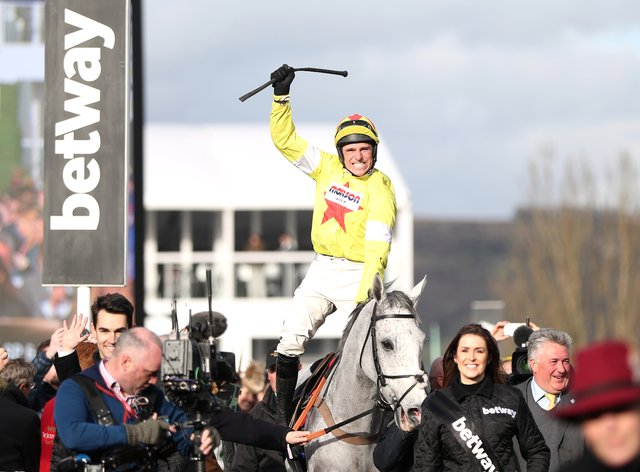 Skelton surprised punters by clinching the Champion Chase on Politologue (PA Images)
