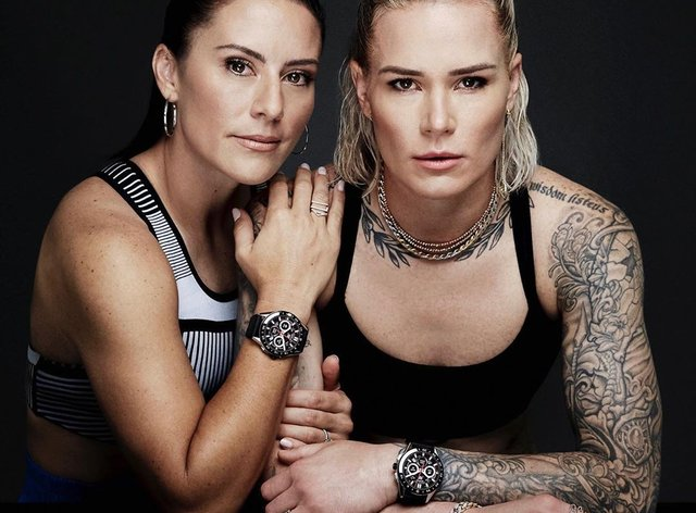 Krieger and Harris are a part of TAG Heuer's new advertising campaign (Instagram: Ashlyn Harris)