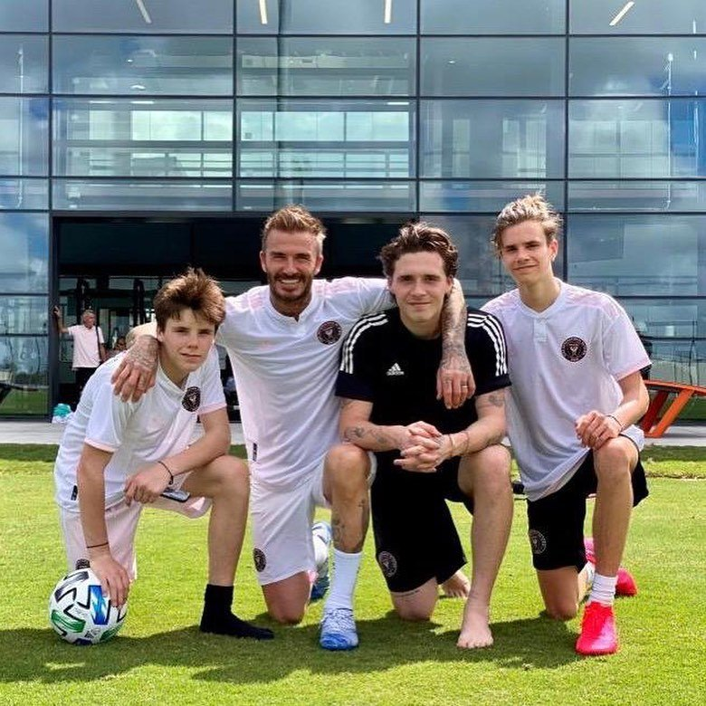 David Beckham, who co-owns Inter Miami, took his family to see the new stadium (Instagram: Victoria Beckham)