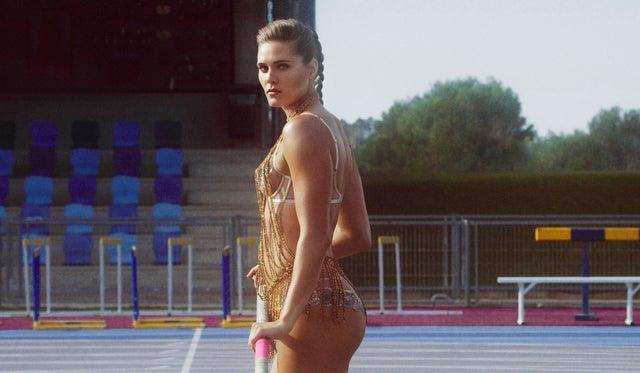 Pole vaulter Alysha Newman has taken part in the campaign (Agent Provocateur)