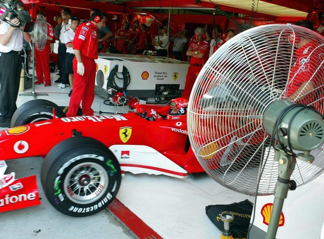 Formula 1 teams use ventilators in the build up to their races (PA Images)