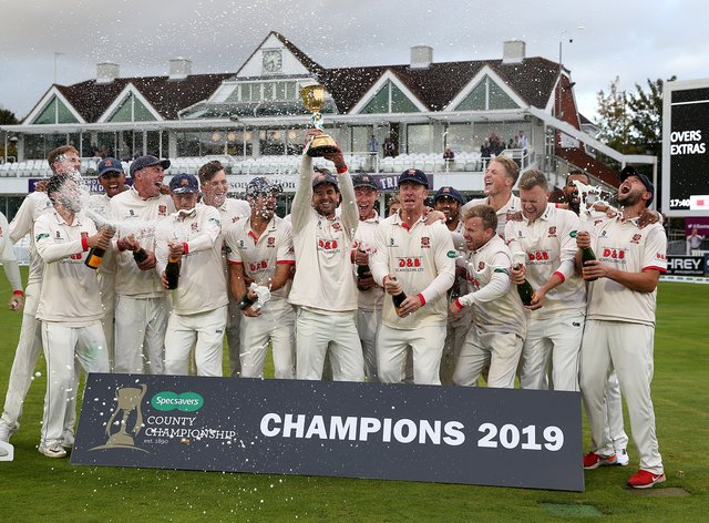 Essex won the County Championship in 2019 (PA Images)