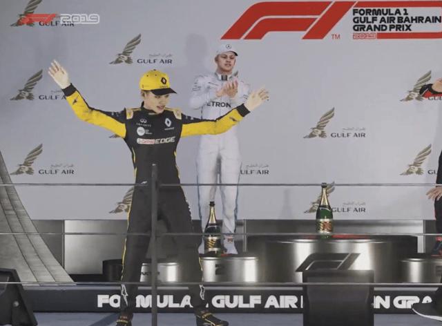 Guanyu Zhou celebrates his win (F1)