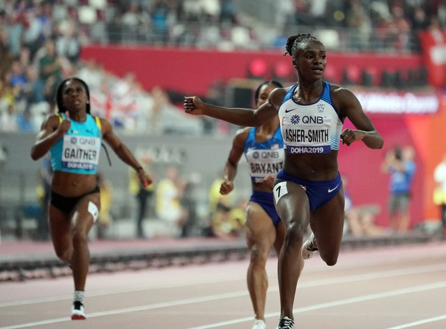 Dina Asher-Smith was philosophical about the postponement, posting 'same fire, new dates' (PA Images)