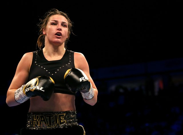 Taylor was due to fight Amanda Serrano on May 2 (PA Images)