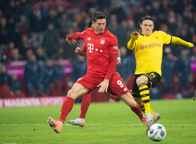 Bayern Munich and Borussia Dortmund are first and second in the Bundesliga (PA Images)