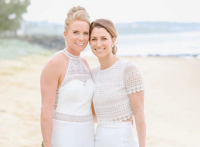 Winfield married Hill this month (Instagram: Lauren Winfield)