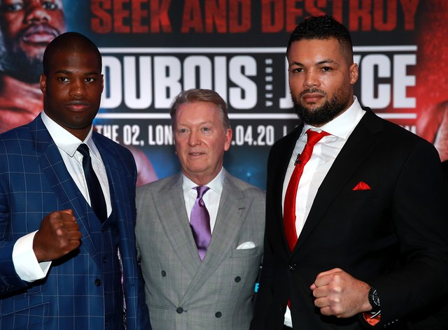 Daniel Dubois (left) and Joe Joyce (right) are two British fighters who could be tested for COVID-19 if the decision is made to implement it (PA Images)