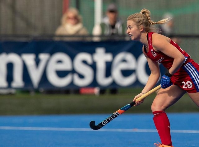Esme Burge is one of the youngest players in the centralised GB programme at 20 years-old (Lawrence Kirsty)