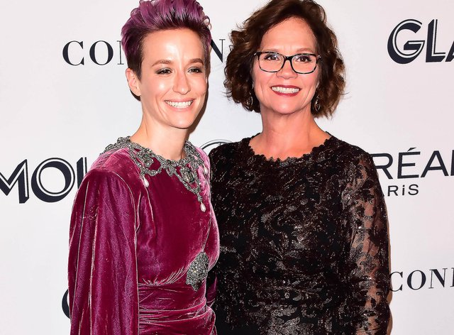 Megan Rapinoe and her mother Denise, who is having to claim benefits for the first time in her life (PA Images)