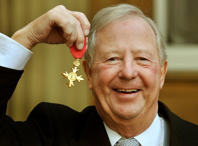 Tim Brooke-Taylor receiving his OBE in 2011 (PA Images)