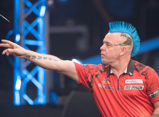 World champion Peter Wright will be playing the first 'home' fixture on Friday (PA Images)