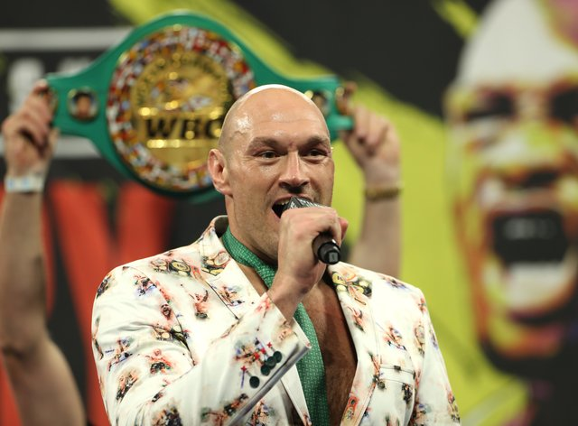 Fury returned to his home in Morecambe following his victory over Deontay Wilder (PA Images)