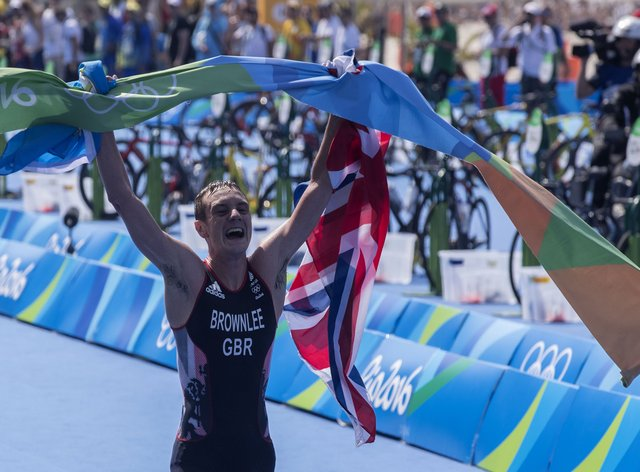 Brownlee won gold in the triathlon at both the London and Rio Olympics (PA Images)