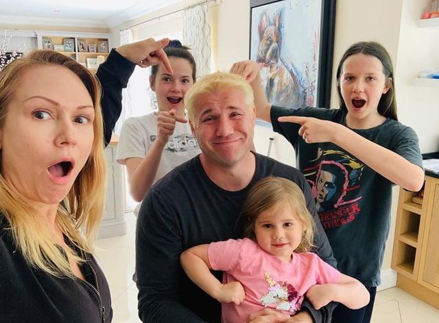 Cohen let girlfriend Kristina Rihanoff loose on his hair (Instagram: Ben Cohen)