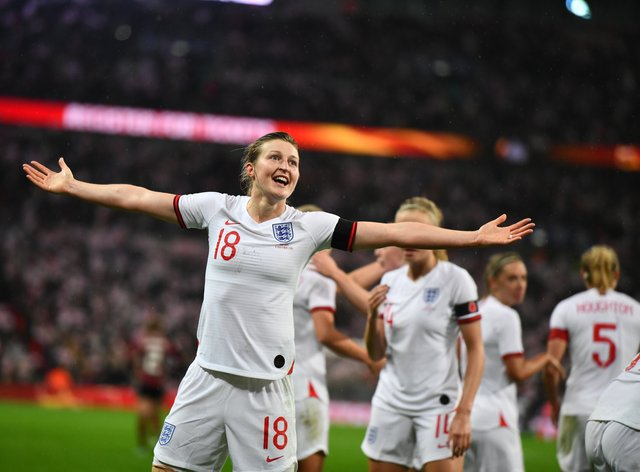 Ellen White and the rest of  the Lionesses will now have to wait  until 2022 for the next Euros (PA Images)