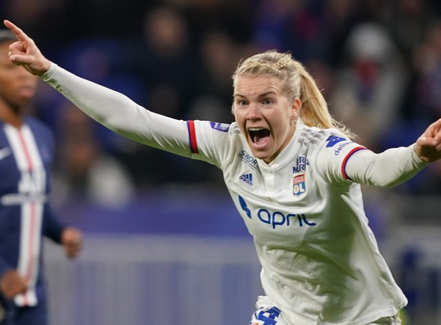 Hegerberg sustained an ACL injury earlier this year (PA Images)