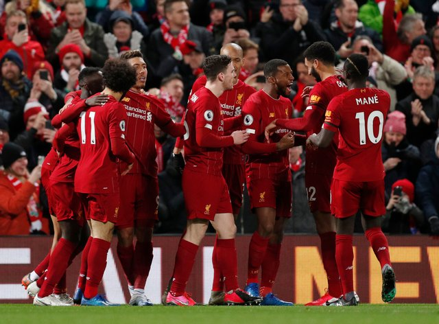 League leaders Liverpool need just two wins to secure the title if and when the season resumes (PA Images)