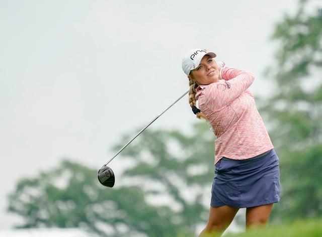 Lauren Stephenson at last year's PGA Championship (PA Images)