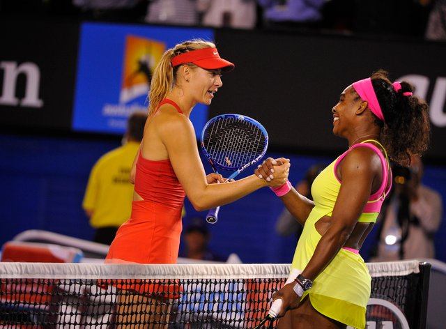 Sharapova and Williams have met numerous times on court but never in an event like this (PA Images)