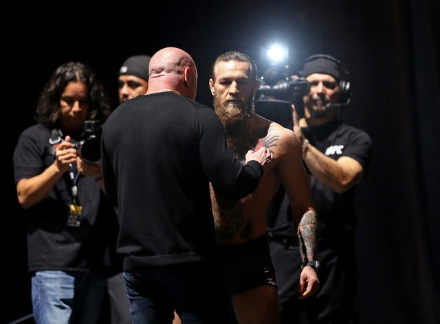 McGregor has been training for his next fight while in lockdown (PA Images)