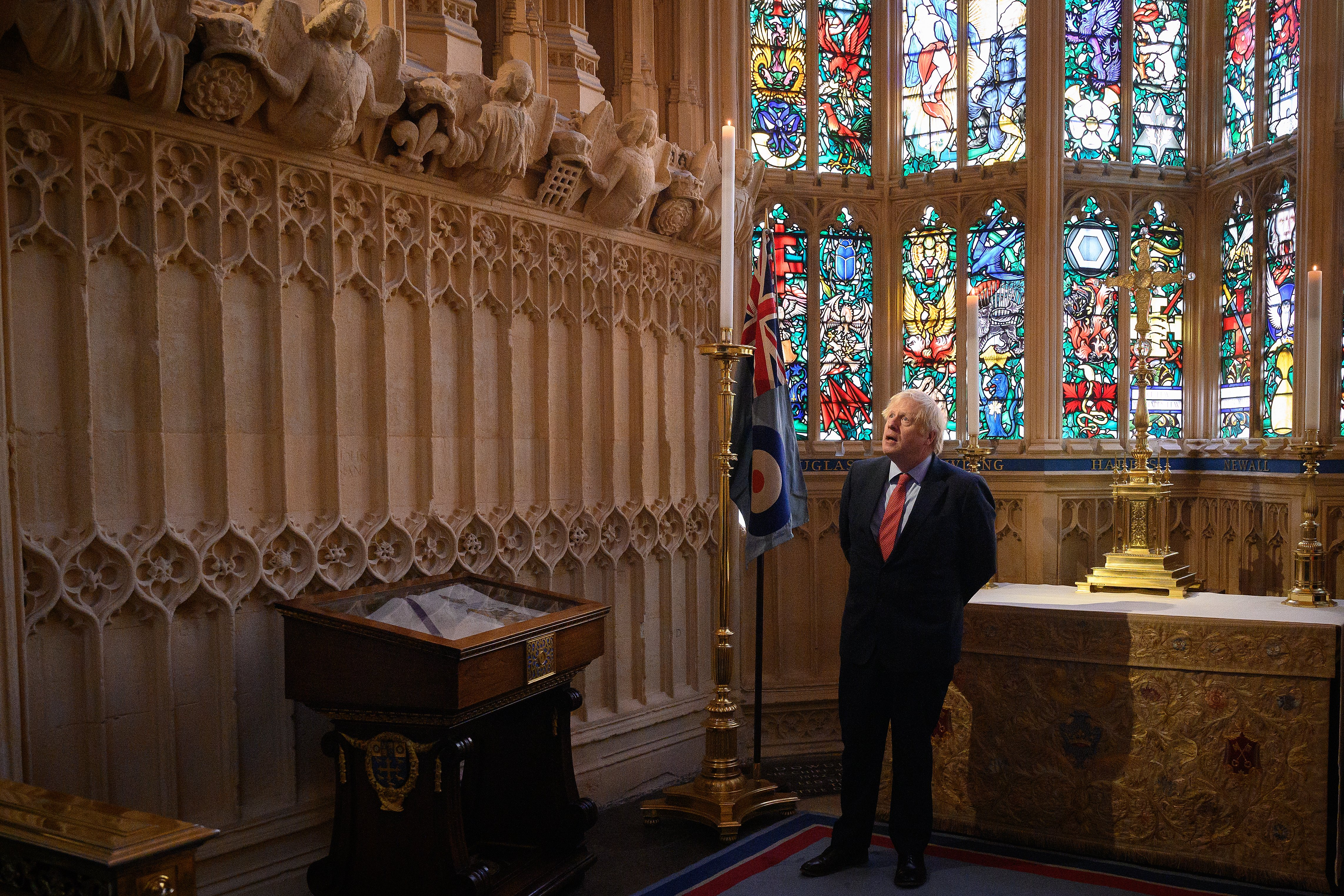 Boris Johnson pays respects at Westminster Abbey ahead of VE Day celebrations