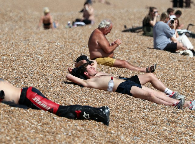 Saturday could be a self isolation struggle as temperatures are set to hit 26C, the hottest day of the year (PA Images)