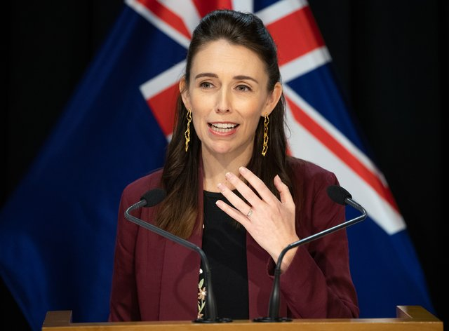 The New Zealand PM could not skirt around the guidelines for a table (PA Images)