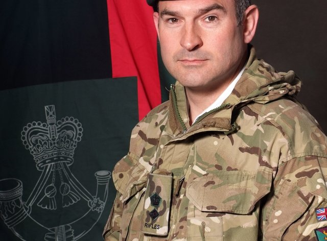 2 Rifles commanding officer Lieutenant Colonel Sam Cates
