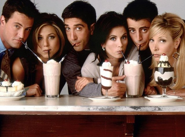 The main six cast members of Friends were white. Lisa Kudrow, far right, has previously said that wouldn't be the case if the show was being  made today
