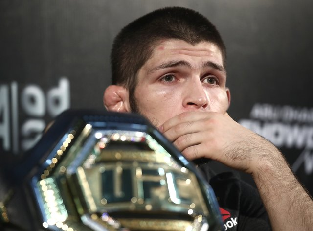 Khabib is currently back home in Russia with his family (PA Images)