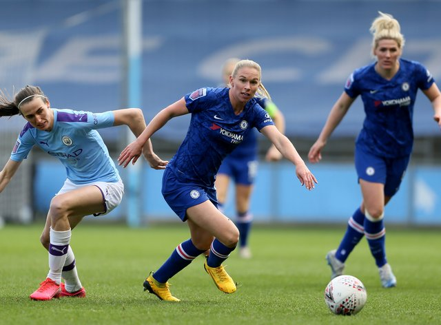 Manchester City currently lead Chelsea in the WSL title race (PA Images)