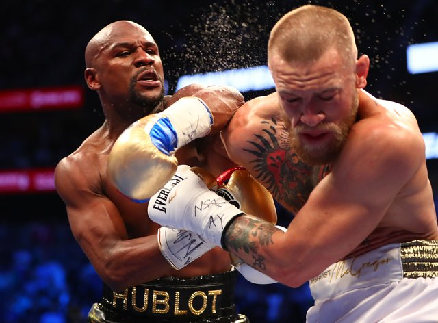 Mayweather stopped McGregor inside ten rounds in a boxing bout back in August 2017 (PA Images)