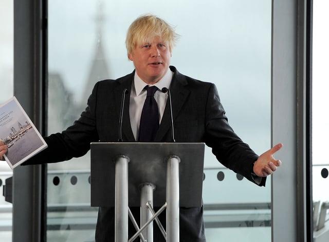 Boris Johnson during his tenure as mayor of London (Andrew Matthews/PA)
