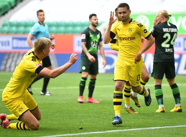 Raphael Guerreiro's goal helped Borussia Dortmund past Wolfsburg on Saturday afternoon