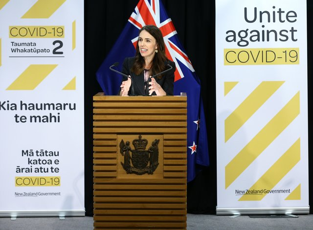 Jacinda Ardern remained cool and collected as she spoke