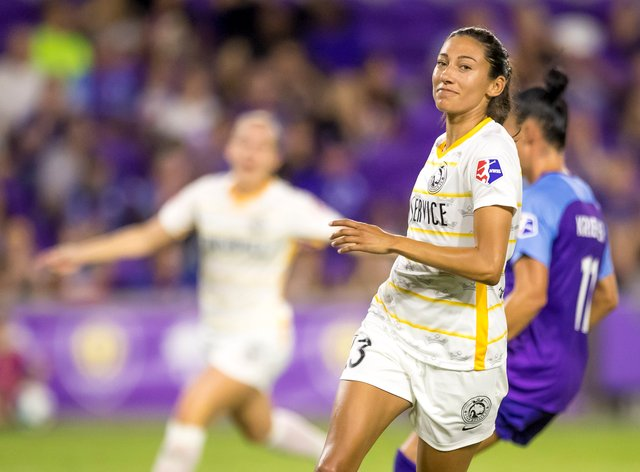 Christen Press, along with her Utah Royals team mates, is now allowed to train in small groups