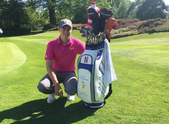 Matt Fitzpatrick with his golf bag