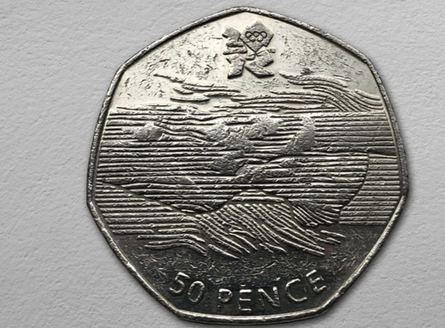The rare 50p coin was one of 29 designs for the 2012 Olympics
