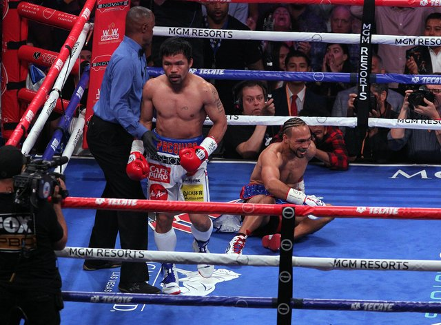 Pacquiao last fought in July 2019 when he beat Keith Thurman by split decision