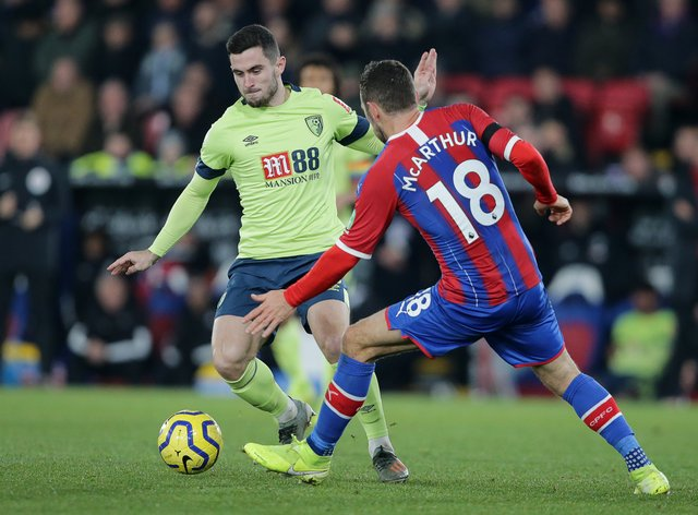 Palace beat Bournemouth 1-0 at Selhurst Park earlier this season