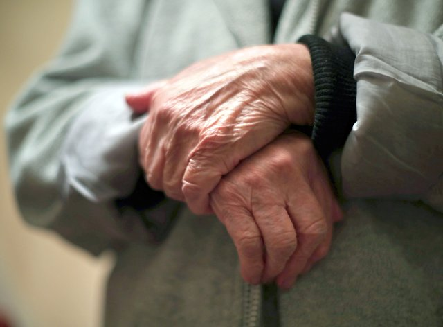 The hands of an elderly person (Yui Mok/PA)