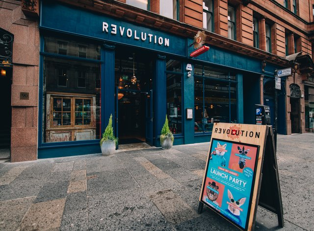 Revolution bar in Glasgow
