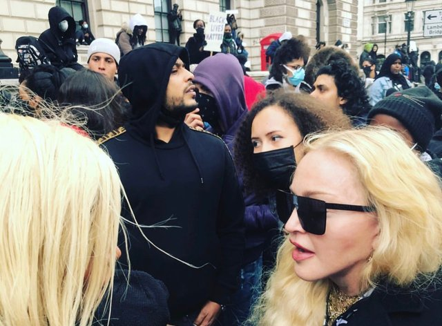 Madonna took part in the 'Black Lives Matter' protest in London