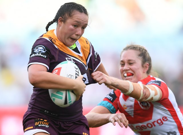 Broncos player Raecene Mcgregor, with the ball, will play this September