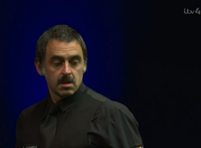 Ronnie O'Sullivan has been sporting a moustache during this tournament (ITV4/PA)