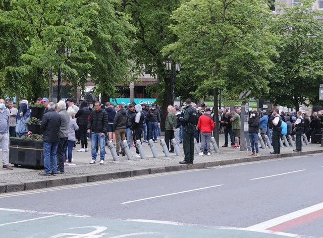 City Hall crowd